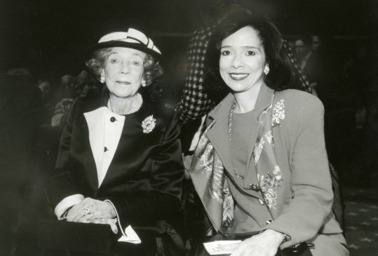 President Brown with Brooke Astor.