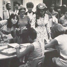 Registering for classes, analog style, 1968.