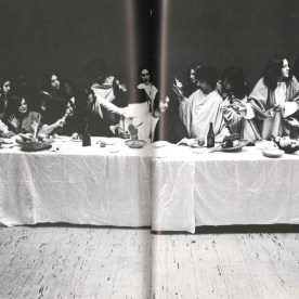 The 1974 yearbook was particularly inscrutable. There were no captions for most of the photos, including this recreation of The Last Supper.