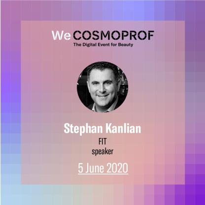 Stephan Kanlian credentials for CosmoProf talk