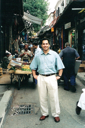 Gregory Rodriguez, pictured here in Istanbul, Turkey in 2000, was the inspiration for his parents' efforts to oppose the wars in Iraq and Afghanistan.. Photo courtesy of Orlando and Phyllis Rodriguez