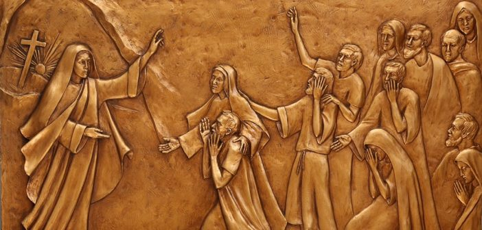 María Magdalena proclama la primera homilía Pascua, por Margaret Beaudette