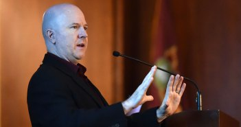 """Bruce Maggs, Ph.D. delivers the talk """"The Internet at the Speed of Light at Fordham's Lincoln Center campus"""