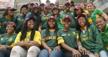 The 2017 cohort of South African students at Yankee Stadium.