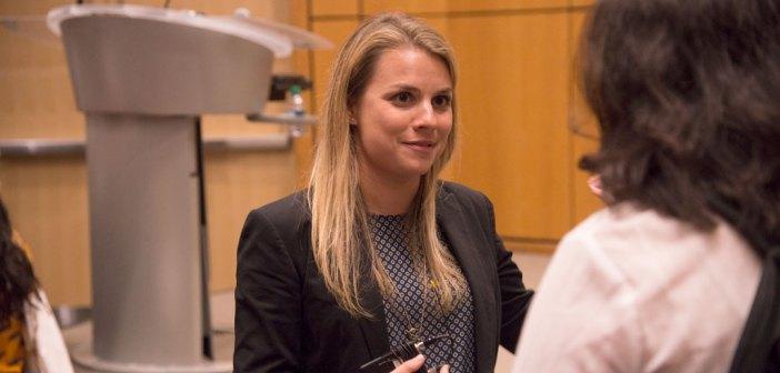 Sarah Greenwood, Gabelli '12, director of Olympics sales marketing at NBC Universal.