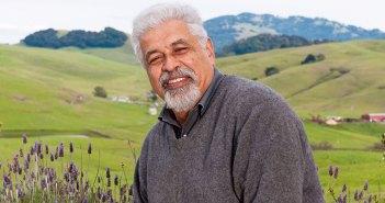 Fordham graduate Kamal Azari at his vineyard, Azari Vineyards, in Sonoma County, California