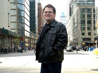 Kyle Kilkenny, FCLC student, in Manhattan