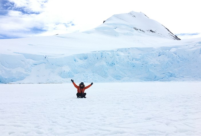 Flynn at Port Lockroy, Antarctica