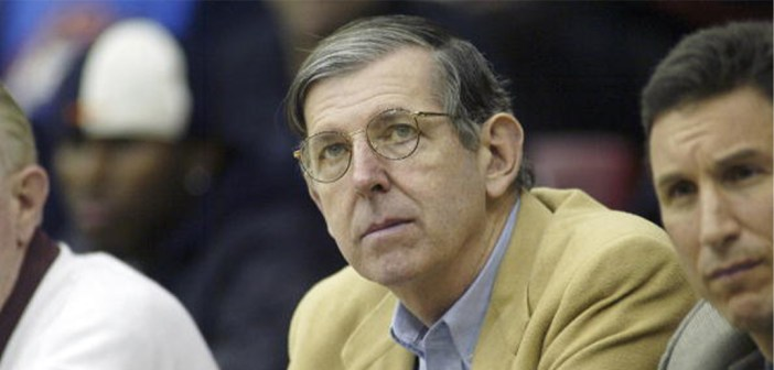 High School Basketball: CHSAA Intersectional Tournament: Closeup of HSBI Report editor and publisher Tom Konchalski scouts during game at Rose Hill Gym on Fordham University campus. Bronx, NY 3/12/2003 CREDIT: David Bergman (Photo by David Bergman /Sports Illustrated via Getty Images)