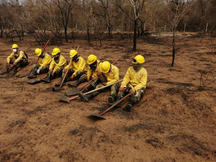 Digging trenches is one of the methods used by the firefighters to keep flames from spreading. Courtesy of CEPAD