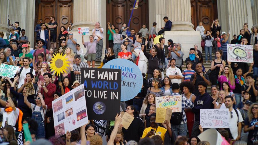 Climate strike participants in New York City, 20 September 2019. Photo: Justin K. Davey
