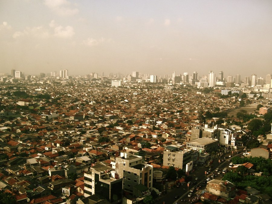 Jakarta, the current Indonesian capital, regularly ranks among the world's most polluted cities. swxxii, Flickr