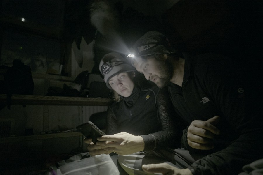 Rees with her husband Renan Ozturk, a mountaineer and visual artist. The pair often collaborates on documentary projects. Courtesy of Taylor Rees