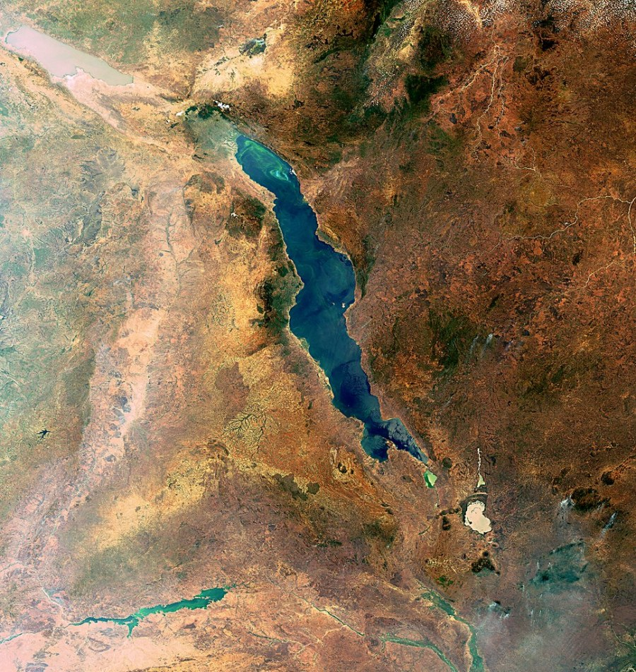 Lake Malawi, as seen from the Envisat satellite. Great Lakes are one of eight core African landscapes. Richard Petry, Flickr