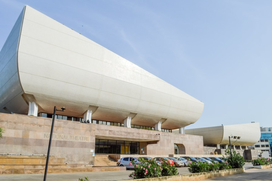 National Theatre of Ghana, designed by Chinese architecture firm CCTN Design, sits in the center of the capital city. Francisco Anzola, Flickr