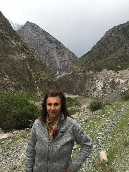 Agostini in the mountains of Tajikistan. Courtesy of Juan Pablo Ruiz