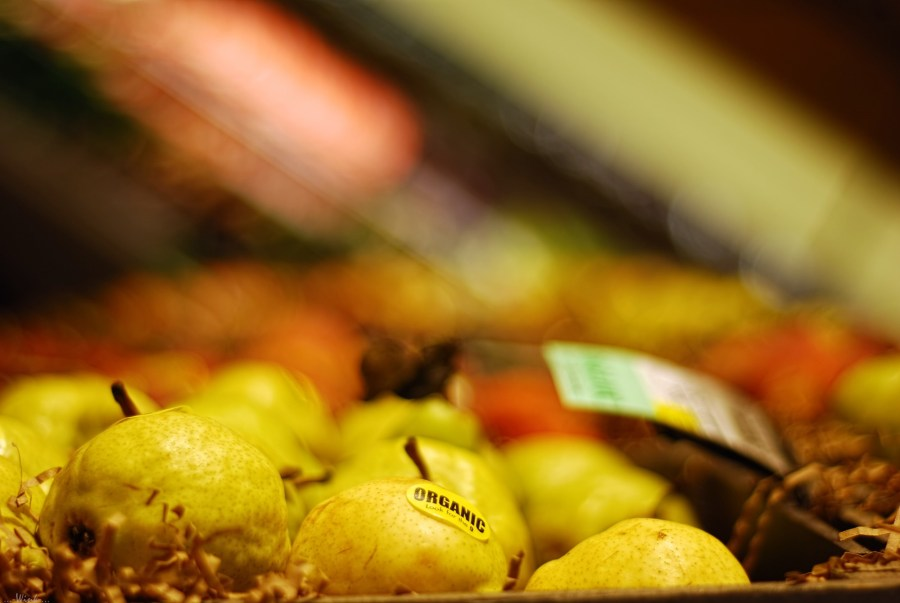 Organic pears. Wendell, Flickr