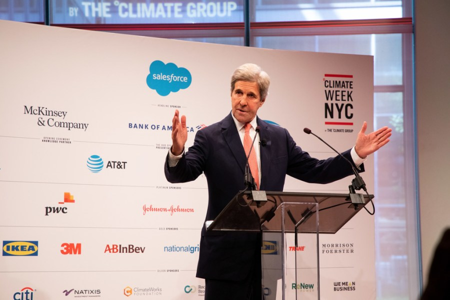 American politician John Kerry was one of the keynote speakers at Climate Week NYC in 2019. Courtesy of The Climate Group