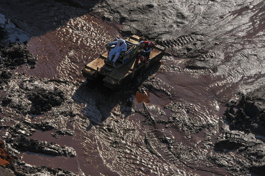 The collapse of the dam owned by Vale in Brumadinho, Brazil killed 270 and released 12 million cubic meters of tailings into the environment. Felipe Werneck, Ibama