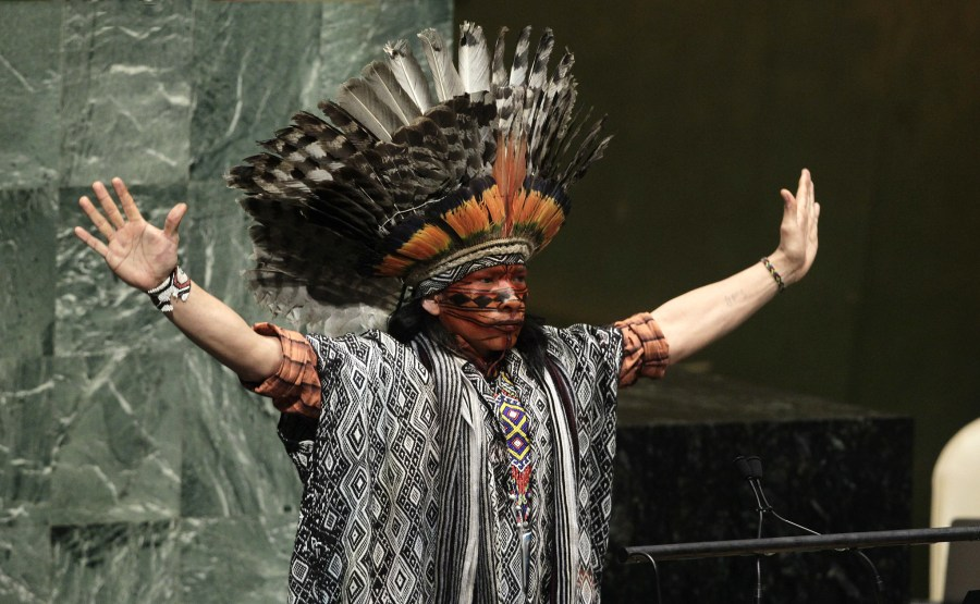 Nilson Tuwe Huni Kuĩ, an indigenous leader from the Western Amazon in Brazil. United Nations Photo