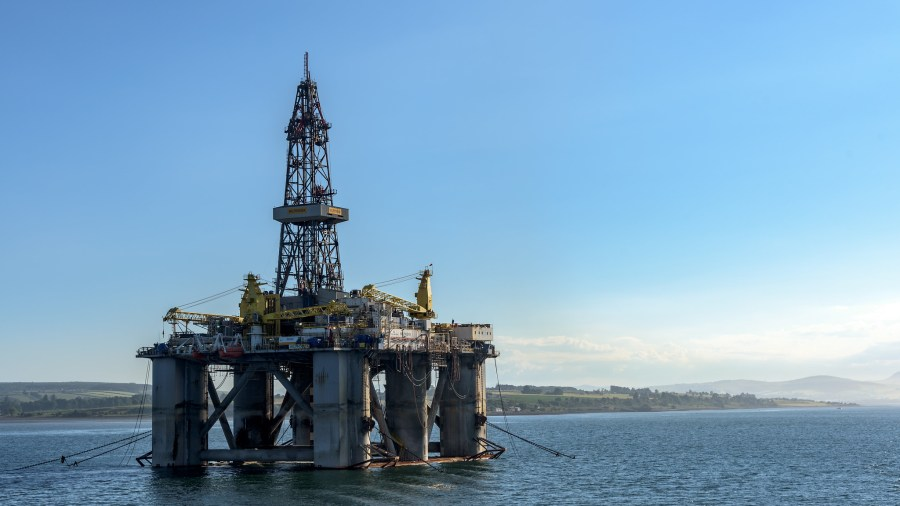 The 1982-built offshore oil rig in Scotland, equipped for drilling in water depths up to 366 meters. Mustang Joe, Flickr