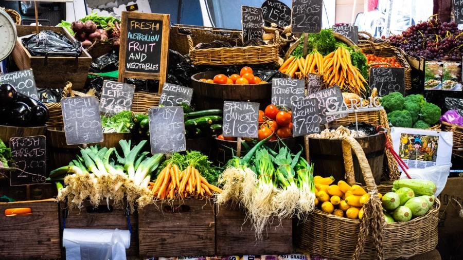 Farmers' market in Melbourne, Australia