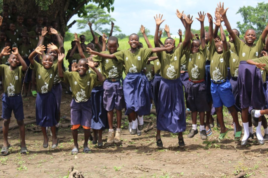 Local children begin involvement in forestry projects. WWF Tanzania
