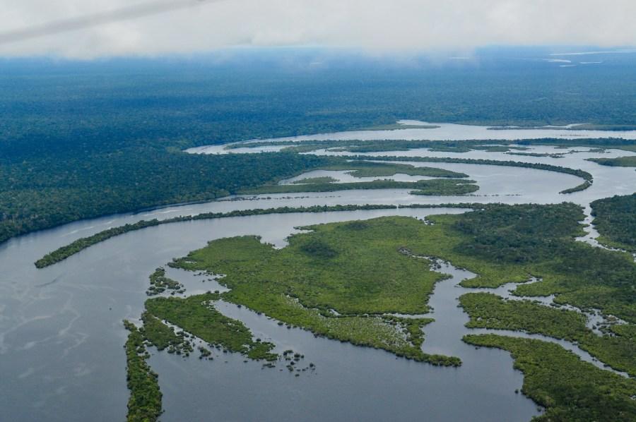 Uma vista aérea da Amazônia Brasileira. Neil Palmer, CIAT