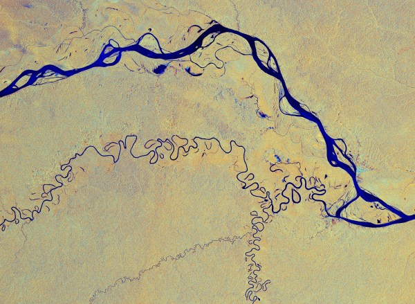 The Amazon River runs the the equivalent of the distance from New York City to Rome, with numerous tributaries providing water to the Amazon biome and its peoples. European Space Agency