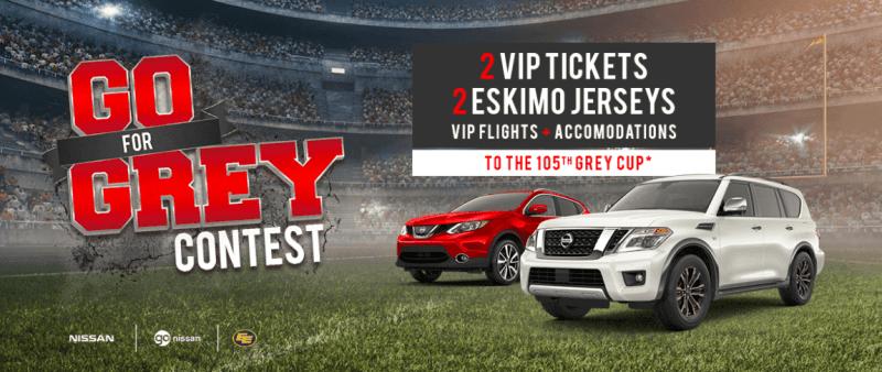 Grey Cup Contest Edmonton Go Nissan