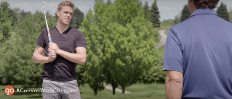 Connor McDavid golf