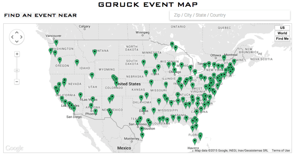 Events Map