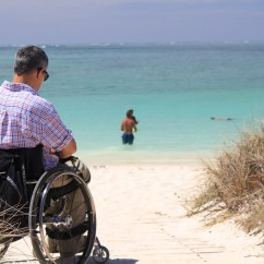 Wheelchair Man Argos Loose Chair Covers Greek Beaches To Offer Accessibility Via Ramps By 2018