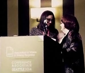 Maria Mazzioti Gillan Receiving Award Edited