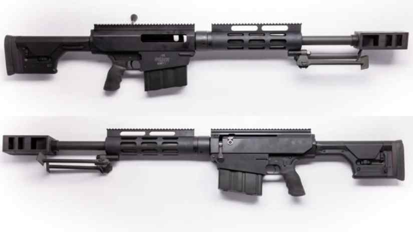 A rarely-seen carbine version of the Bushmaster BA50, with a factory 22-inch barrel, currently rests in the Guns.com Vault.