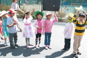 Kindergartners Don Creative Hats During Easter Parade