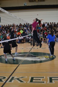 Grade 8 Volleyball Teams Humble Faculty and Staff in Hotly Contested Battle over Free Dress