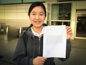 Grade 8 Students Letter-Writing Campaign Yields Tangible Results