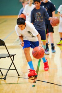 Basketball Campers Learn Fundamentals Under Veteran's Tutelage