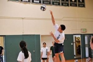 Volleyball Campers Enjoy Improving Skills and Learning New Ones