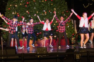 Harker Performers Show Up Big at Santana Row Tree Lighting