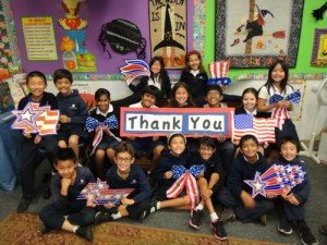 Grade 3 Veterans Day Project Honors Military Personnel, Past and Present