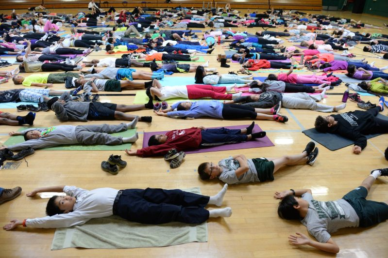 Meditation and Yoga Mark First Wellness Day at Middle School