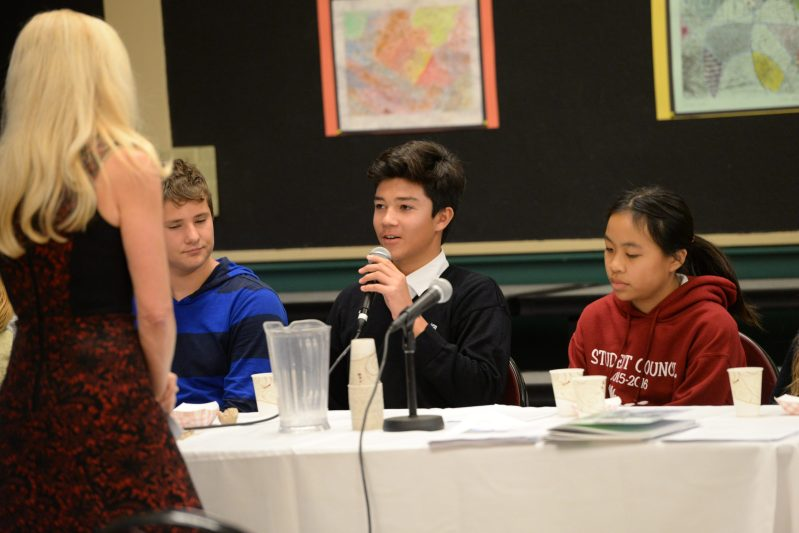 Middle School Hosts Teen Panel on Social Media Use and the Digital Age