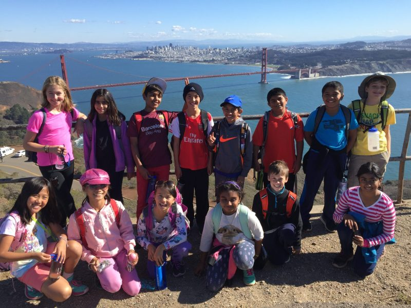 Incredible Views, Study of Local Ecosystems Highlight Grade 5 Trip to Marin Headlands