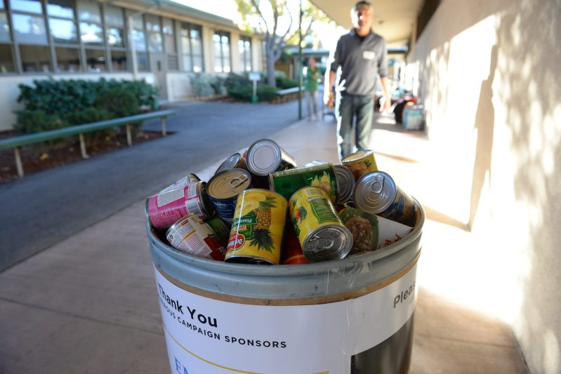 Annual Middle School Canned Food Drive is Fun and Helps a Good Cause
