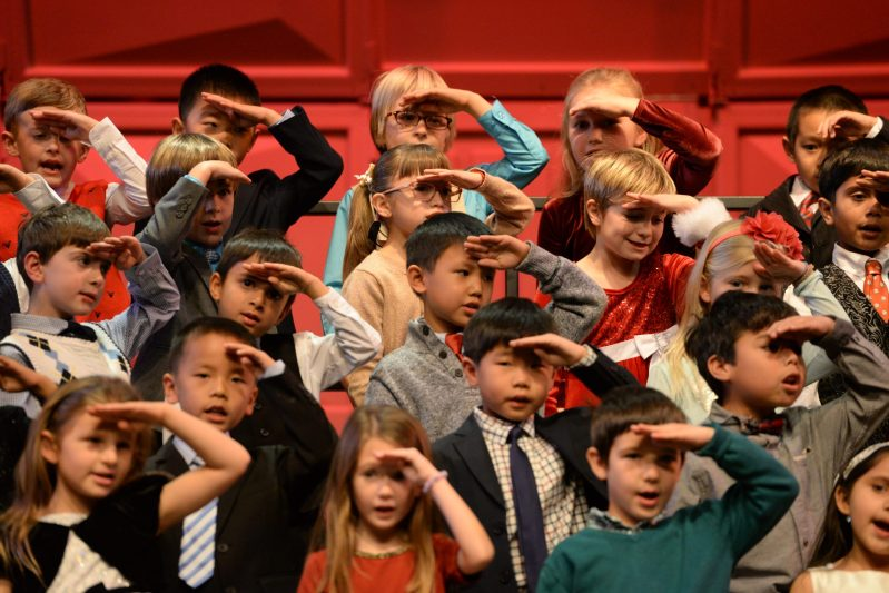 Grade 1 Students Gather to Celebrate the Holiday Season in Song