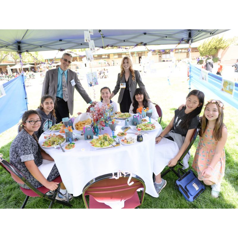 Grade 6 Students Enjoy Delicious Picnic Prize Luncheon Served by Stellar Waitstaff