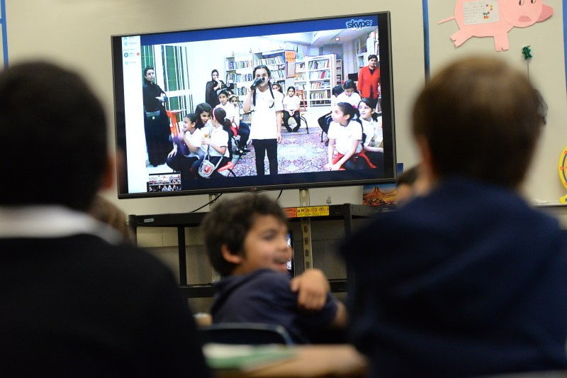Grade 2 Students Hold Fun Skype Session with Peers from Saudi Arabia