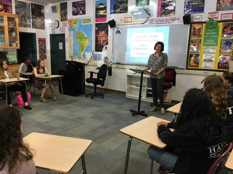 Author D'Anne Burwell Shares Story of Son's Addiction During Classroom Visit